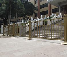 广州某行政中心前皇冠道路护栏工程